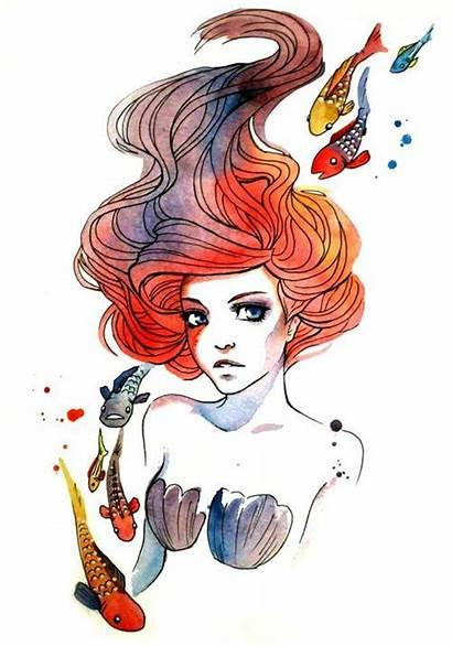 Tattoo Watercolor Tattoos Princess Mermaid Disney