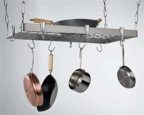 hanging pot rack concept housewares pr 40905 stainless steel hanging pot