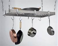 pot and pan hanging rack Concept Housewares PR-40905 Stainless-Steel Hanging Pot Rack, Rectangular | eBay