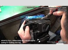 HOWTO FULLY OPEN AUDI A6's HEADLIGHTS by exLEDSHOPcom