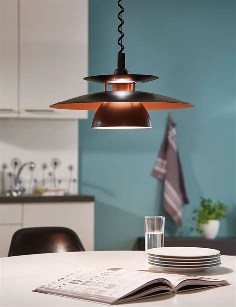 pendant kitchen lights uk brenda rise and fall pendant black 31666 4122