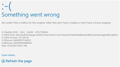 Office 365 X Owa Error by Solved Office 365 Error Something Went Wrong