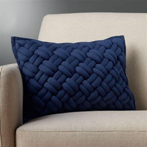 jersey blue chunky knit pillow cb