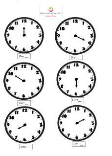 schede didattiche di storia l orologio impariamo a leggere l ora le parti della giornata 12