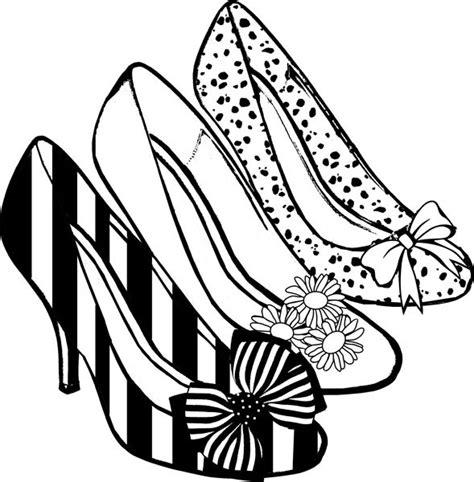 los dibujos  colorear dibujos de zapatos  colorear