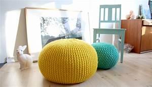 Pouf Selber Machen : a tweed pouf ottoman an easy chunky knit flax twine ~ Michelbontemps.com Haus und Dekorationen