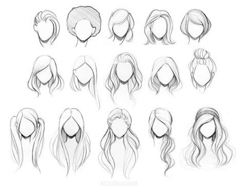 haircut drawing pretty hairstyle