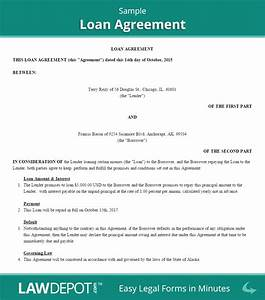 loan agreement template us free loan contract lawdepot With loans no documents required