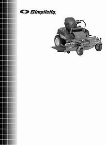 Simplicity Lawn Mower Zt3000 User Guide