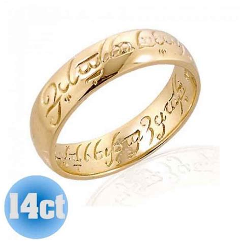 lord of the rings wedding band 14k the one ring the