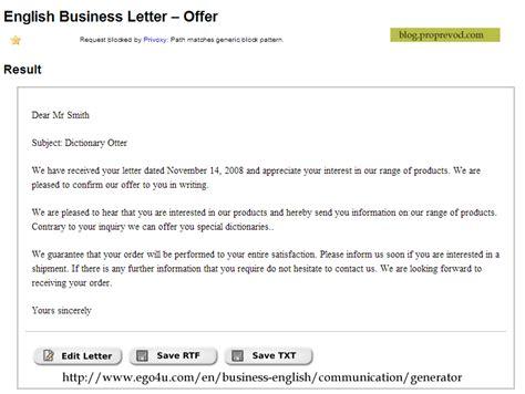 english business letter generator language bits