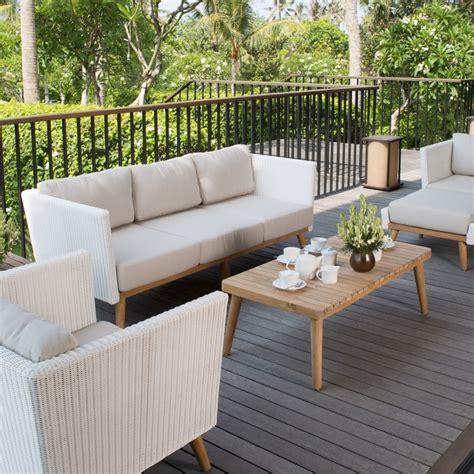 canape exterieur sofa 3 places canapé extérieur pob de sky line design