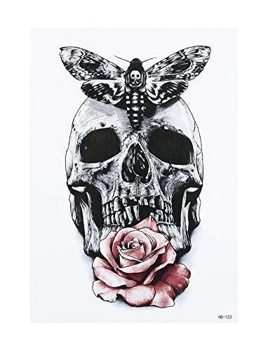 tatouage tete de mort mexicaine avec rose