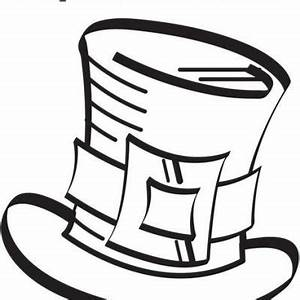 Best Photos of Snowman Hat Coloring Page - Top Hat ...
