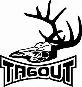 Tagout Deer Bow Gun Hunting Skull Car truck Window Vinyl