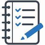 Icon Clipart Scorecard Homework Checklist Project Vector