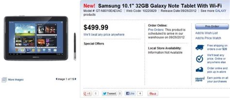 samsung galaxy note 10 1 coming to best buy canada september 26