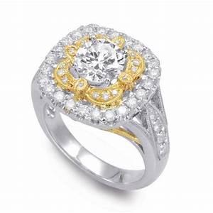 Vintage-Inspired Forever One Moissanite & Diamond Ring 14k ...