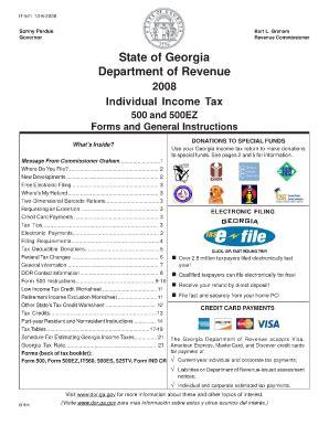 georgia form 500ez 2013 pdf ga 511 fill online printable fillable blank pdffiller