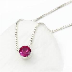 ruby necklace july birthstone by lilia nash jewellery ...