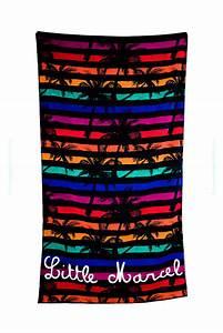 Grande Serviette De Plage : serviette de plage imprim palmier salvi marque little marcel ~ Teatrodelosmanantiales.com Idées de Décoration