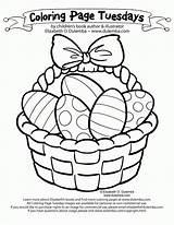 Coloring Easter Egg Basket Colouring Popular sketch template