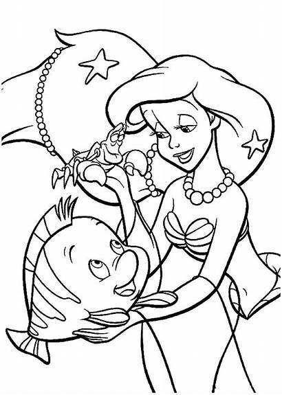 Ariel Mermaid Coloring Pages Colouring Disney Cartoon