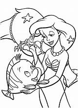 Ariel Mermaid Coloring Pages Colouring Disney Princess Printables Cartoon Arielle Cartoons sketch template