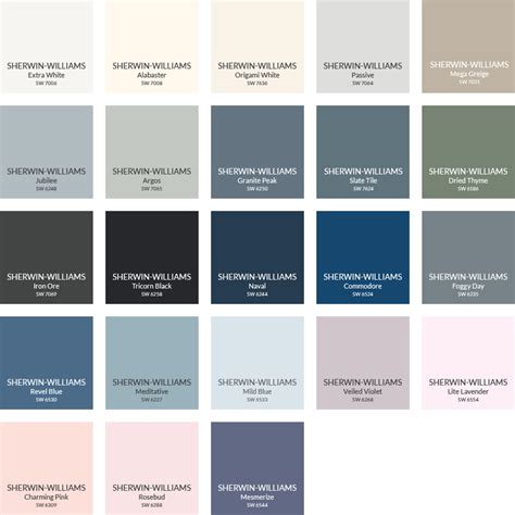pottery barn teen paint colors  sherwin williams