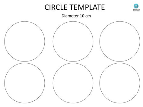 Attractive Six Inch Circle Template Pattern - Resume Template ...
