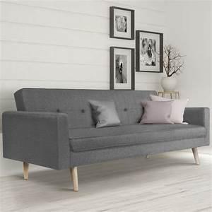Canapé Scandinave Gris : canap droit 3 places lars convertible gris scandinave meubles et ~ Teatrodelosmanantiales.com Idées de Décoration