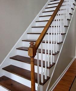 Escalier Bois Blanc : comment peindre rapidement un escalier en bois escaliers escalier bois deco escalier et ~ Melissatoandfro.com Idées de Décoration
