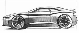 Sports Car Side View Sketch
