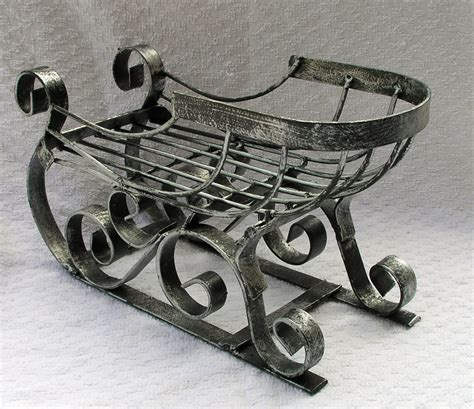 decorative metal christmas sleigh sled sleighs