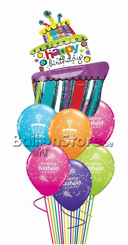 Birthday Balloon Colorful Bouquet Funky Balloonstore Assorted
