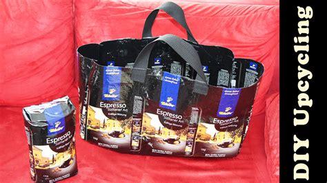 tasche aus tasche aus tchibo kaffeeverpackung n 228 hen upcycling diy