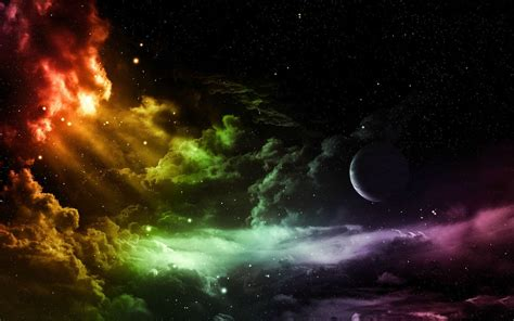 Clouds, Colorful, Space, Sky Wallpapers Hd / Desktop And
