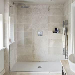 Neutral, Stone, Tiled, Shower, Room