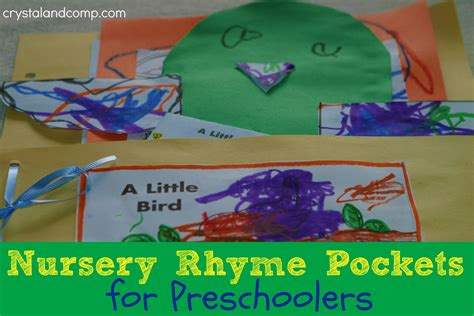 homeschool how to make nursery rhyme pockets for 101 | nursery rhyme pockets for preschoolers