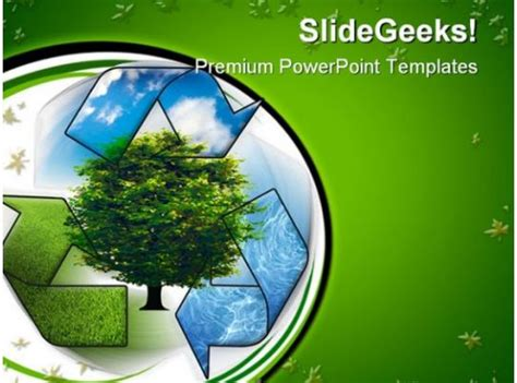 recycle  clean environment powerpoint templates