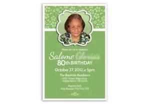 80th Birthday Card Invitations