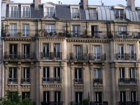 stock photo  facade  paris apartments