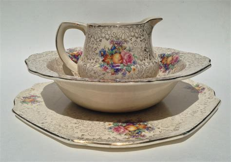 tunstall english chintz plate milk pitcher