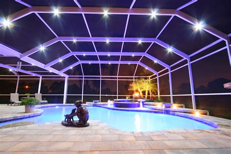 low voltage pool cage lighting led light design amazing led lighting systems with chic
