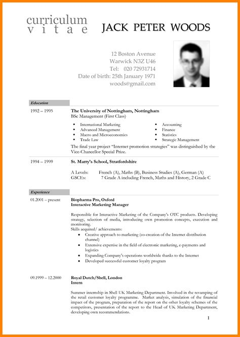 Cv Format Template South Africa by 6 Cv South Africa Template Hostess Resume