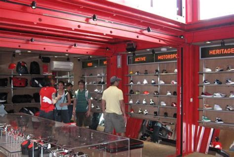 puma city shipping container store   bostons fan
