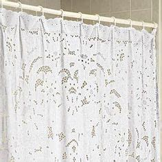 lace shower curtains on country shower