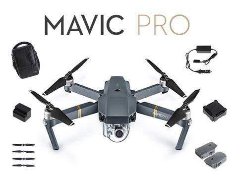 dji mavic pro fly  combo drone bundle kit advexure