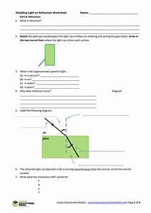 Printables Of Refraction Diagrams Worksheet