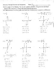 worksheet ratinal functions 2 problems answers